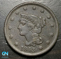 1843 Braided Hair Large Cent --  MAKE US AN OFFER!  #B6282
