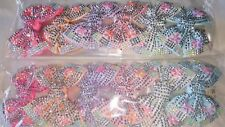 Joblot 12pcs  Mixed color Bow Sparkly hairclips hairgrips NEW wholesale lot B5