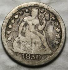 United States 1850 Silver Dime, Seated Liberty