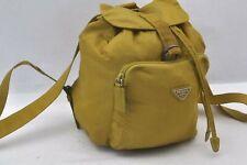 Authentic PRADA Nylon Backpack Yellow A0133