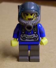 Lego Rock Raiders - Jet Figur - Blau Minenarbeiter Steine - Figuren Frau Neu