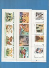 BELGIUM .THREE COMPLETE MNH BOOKLETS .MUSHROOMS/COMIC STRIPS/P.AINTINGS/