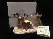 Charming Tails Dean Griff Collectible Snowball Fight Figurine Silvestri Signed