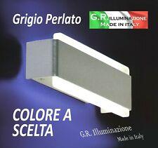APPLIQUE MODERNA A LED GRIGIO PERLATO LAMPADA DA PARETE CAMERA d25x10cm Venus C.