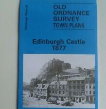 Old Ordnance Survey Maps Edinburgh Castle  Lawnmarket Grassmarket Scotland 1877