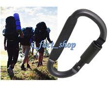 2PCS Aluminum Carabiner D-Hook Clip Camping Key Chain Screw Lock Travel Hardware