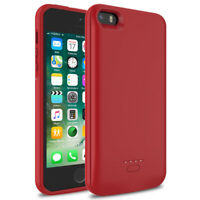4000mAh Red Slim Power Bank Battery Backup Charging Case For iPhone SE 5S 5