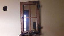 antikes Weich-Holz-Fenster ** Spiegel** restauriertes Sprossenfenster ** Regal**