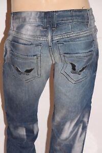 New Men's ROBIN'S JEAN sz 33 DBL BK PCKT Straight Leg Jeans -Silver Rinse