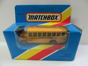 Matchbox Superfast MB47 US School Bus - Mint/Boxed