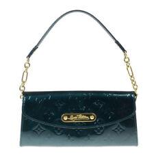Louis Vuitton Sunset Boulevard Patent Leather Green Clutch/Wristlet