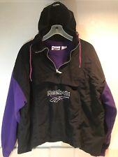 1980s Vintage Reebok Sweatshirt Hoodie Combo Break Dancing Hip Hop Black Purple