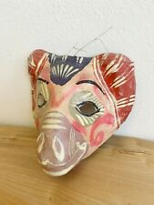 Vintage Mexican Paper Mache Mask Mexican Folk Art Hand Painted Donkey Horse