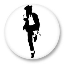 Pin Button Badge Ø38mm Michael Jackson King of Pop MJ Bad Moonwalk Thriller