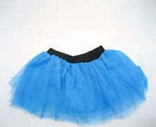 80s Fancy Dress Neon Turquoise Blue Tutu - Adults XXL 16-26