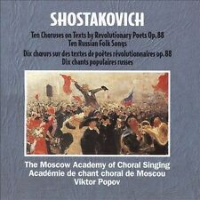 Shostakovich: Ten Choruses by Revolutionary Poets Op. 88 + Ten Folk Songs (CD)