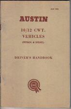 Austin 10/12 cwt Original Handbook Petrol & Diesel c.1960s (J4 predecessor)