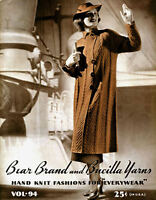 Bear Brand #94 c.1936 Stylish Vintage Knitting Patterns for Women's Fashions