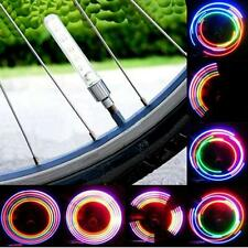 2pcs 7 Changes Bike Bicycle Wheel Tire Valve Cap Spoke Neon 5 LED Lights Lamp