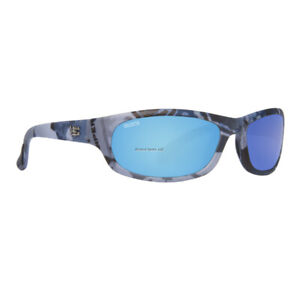 Calcutta Steelhead Sunglasses True Timber, Blue Camo/Blue Mirror, 63mm Lens