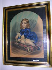 """F. SALA & CO.,BERLIN: 1800s """"LARGE"""" HAND COLORED LITHOGRAPH,original FRAME"""