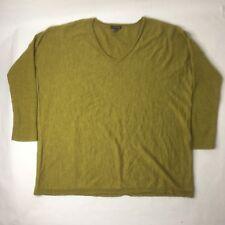Eileen Fisher Womens Long Sleeve V Neck XL Green Shirt H
