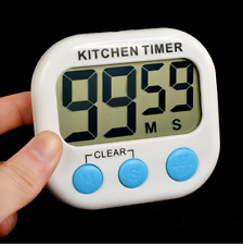 Large LCD Digital Kitchen Timer Magnetic Cooking Count-Down Up Clock Loud Alarm