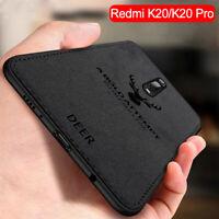 For Xiaomi Mi 9T Pro 9 Lite SE Case Fabric Cloth Leather Soft Silicone TPU Cover