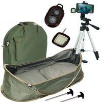 NGT Carp Cradle Pop Up Unhooking Mat and Fishing Photo Selfie Camera Tripod