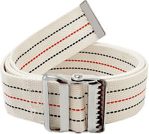 Gait Belt for Patient Transfer & Walking with Metal Buckle LiftAid Beige