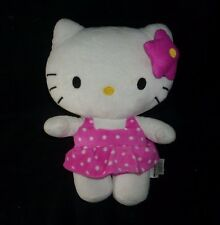 "11"" SANRIO 2012 FIESTA HELLO KITTY PINK POLKA DOT DRESS STUFFED ANIMAL PLUSH TOY"