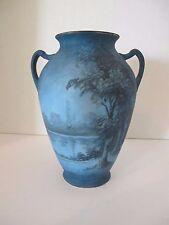 Rare Pickard Midnight Blue Vase, signed Challinor