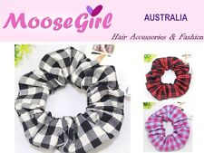 Gingham Scrunchies Plaid  Hair Ring Hair tie Ponytail Holder Rubber Band