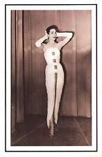 Nostalgia Postcard Norman Hartnell Dress 1957 Fashion Reproduction Card NS52