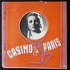 CASINO DE PARIS CARNET DE 10 PHOTOS CHARME EROTISME NUES
