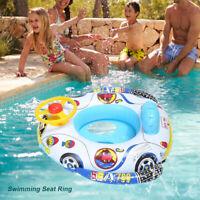 Baby Kids PVC Cartoon Float Boat Inflatable Swim Swimming Ring Pool Water Fun
