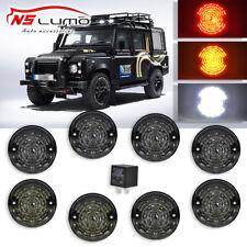 Land Rover Defender 83-90 90/110 Led Smoked Lens Lamp Upgrade Kit Part# BA9720