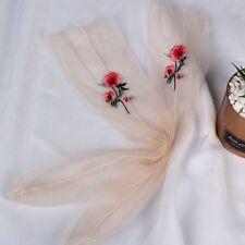 Fashion Ultrathin Sheer Embroider Rose Flowers Fishnet Socks Mesh Summer Hosiery