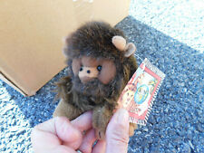 American Buffalo Bison Vtg Plush Brown Furry 1994 Realistic Toy w/ tag & story