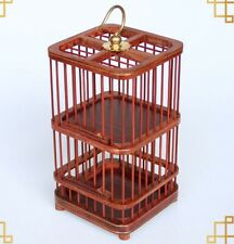 Two Level Rosewood Cricket Cage Grasshopper Small Animal Pet Home Holder
