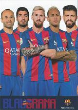 Postal postcard Jugadores FC BARCELONA 16/17 (10,5x15 cms)