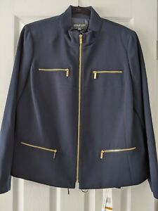 Jones New York NWT jacket 14W and pant 16w navy matching separates suit