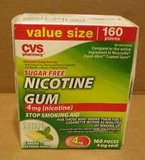 CVS Health - Nicotine Gum - 4mg of Nictotine per Piece - 160 Mint pieces