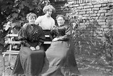 VICTORIAN/EDWARDIAN LADIES Antique Photographic Glass Negative (1910s RPS)