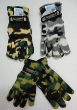 3 Pair Camouflage Gloves FLEECE CAMO Hunting NEW Thermo Multi-color One Size