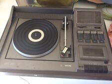 Vintage platine disques vinyles cassette radio Philips