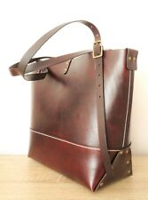 Leather Handbag Shoulder bag Ladies Tote bag Purse office handbag custom made