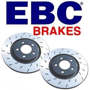 EBC ULTIMAX SPORT SLOTTED REAR BRAKE DISCS FOR BMW 118D 2007 ON USR1358