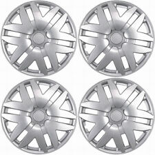 """4 PC Hubcaps Fits Select Auto Truck SUV 16"""" Silver Replacement Wheel Rim Cover"""