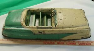 """Vintage Marx Tin Toy  4117 Car 20"""" Long For Parts Only"""